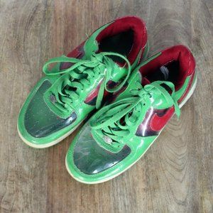 Nike Air Force 1s '82 || Green/Red/Clear Sneakers